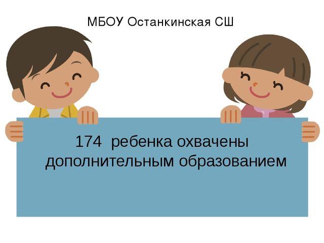 174 ребенка охвачены дополнительным образованием МБОУ Останкинская СШ