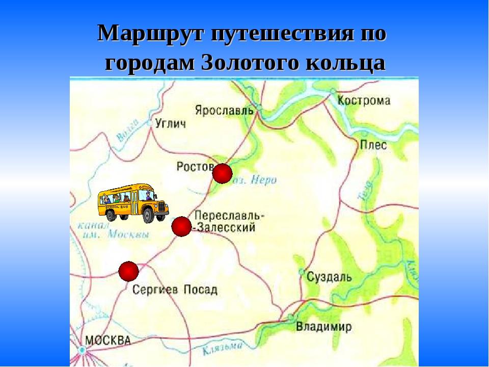 Маршрут путешествия по городам Золотого кольца