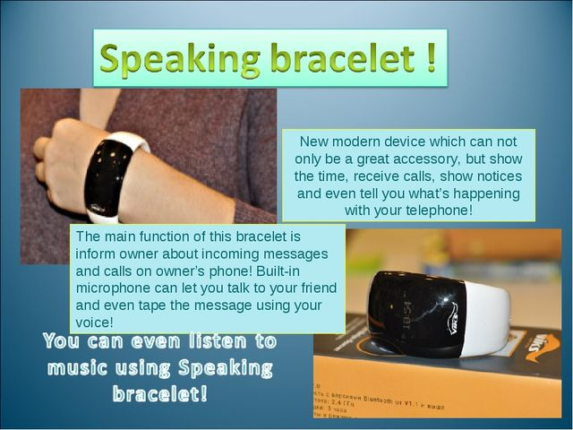 New modern device which can not only be a great accessory, but show the time,...