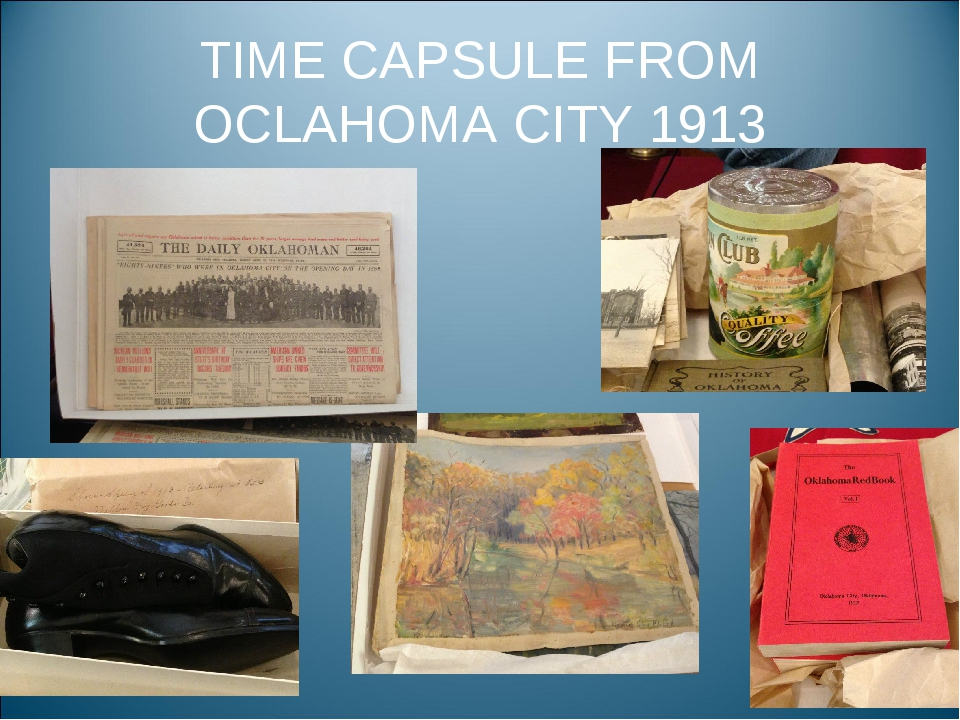 TIME CAPSULE FROM OCLAHOMA CITY 1913