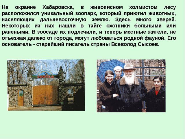 На окраине Хабаровска, в живописном холмистом лесу расположился уникальный зо...