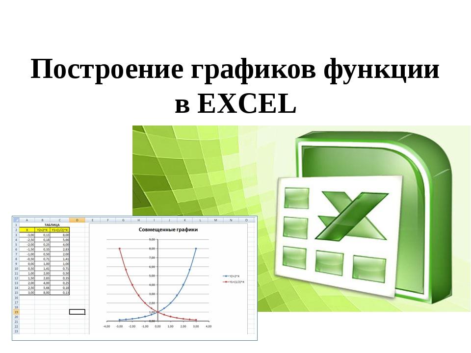 Построение графиков функции в EXCEL