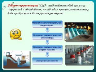 Гидроэлектростанция (ГЭС) - представляет собой комплекс сооружений и оборудов