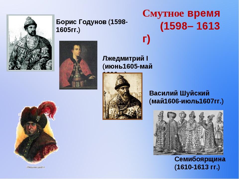 Смутное время (1598– 1613 г)