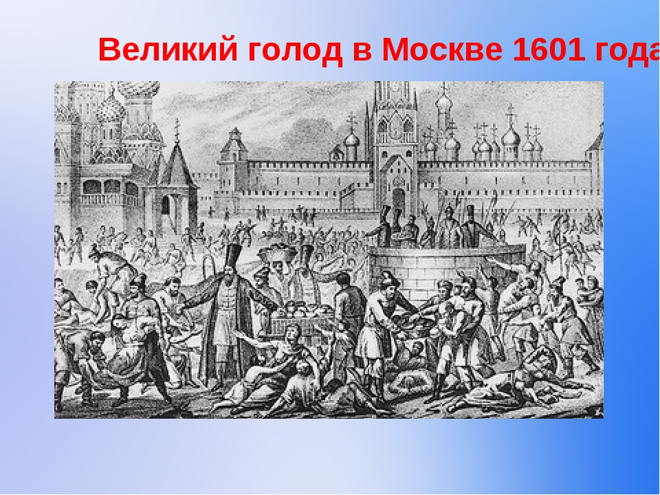 Великий голод в Москве 1601 года