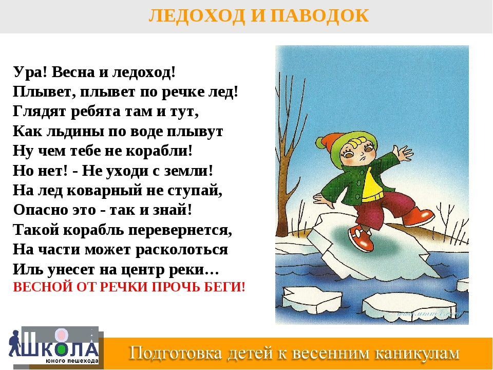 ЛЕДОХОД И ПАВОДОК Ура! Весна и ледоход! Плывет, плывет по речке лед! Глядят р...