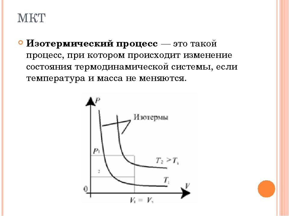 Изотермический процесс— это такой процесс, при котором происходит изменение...