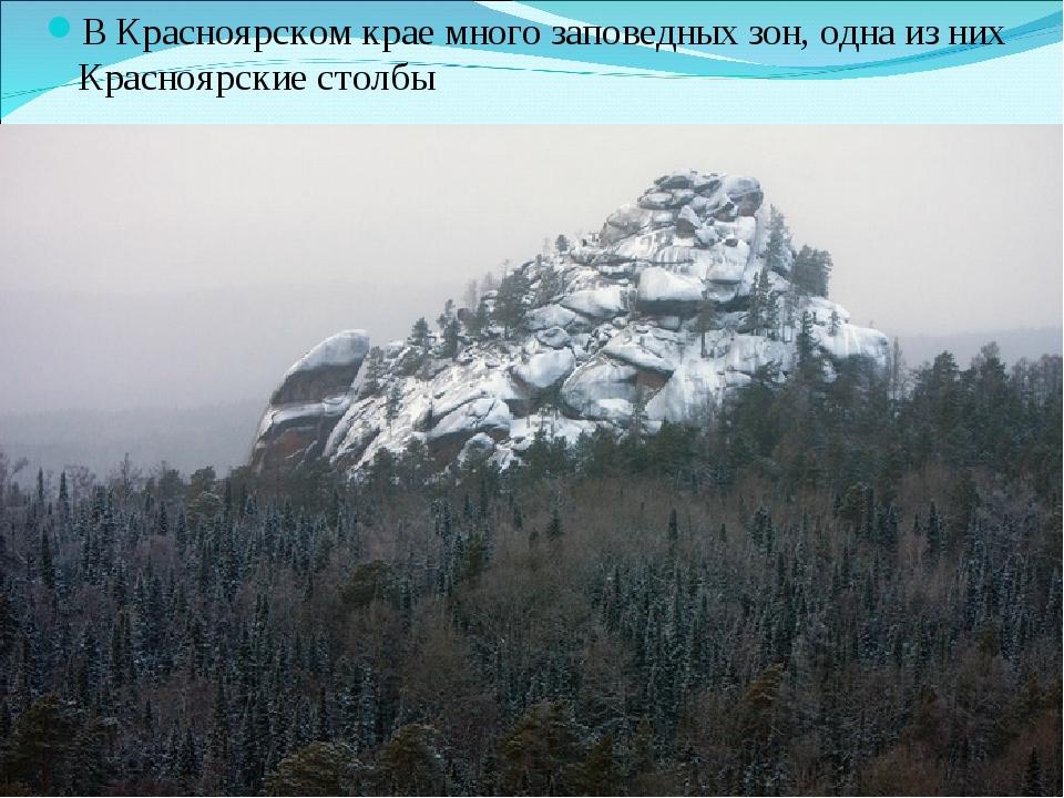 В Красноярском крае много заповедных зон, одна из них Красноярские столбы
