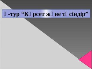"""Ү-тур """"Көрсет және түсіндір"""""""