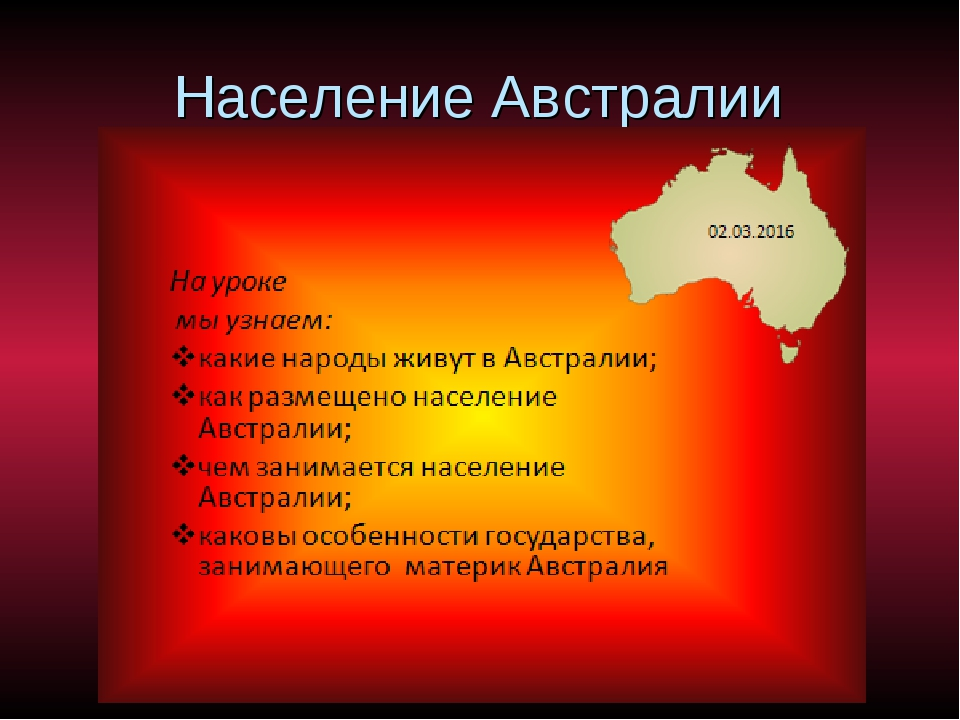 Население Австралии
