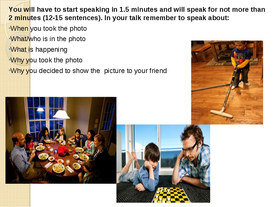 You will have to start speaking in 1.5 minutes and will speak for not more th...