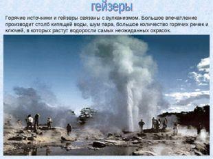 Горячие источники и гейзеры связаны с вулканизмом. Большое впечатление произв