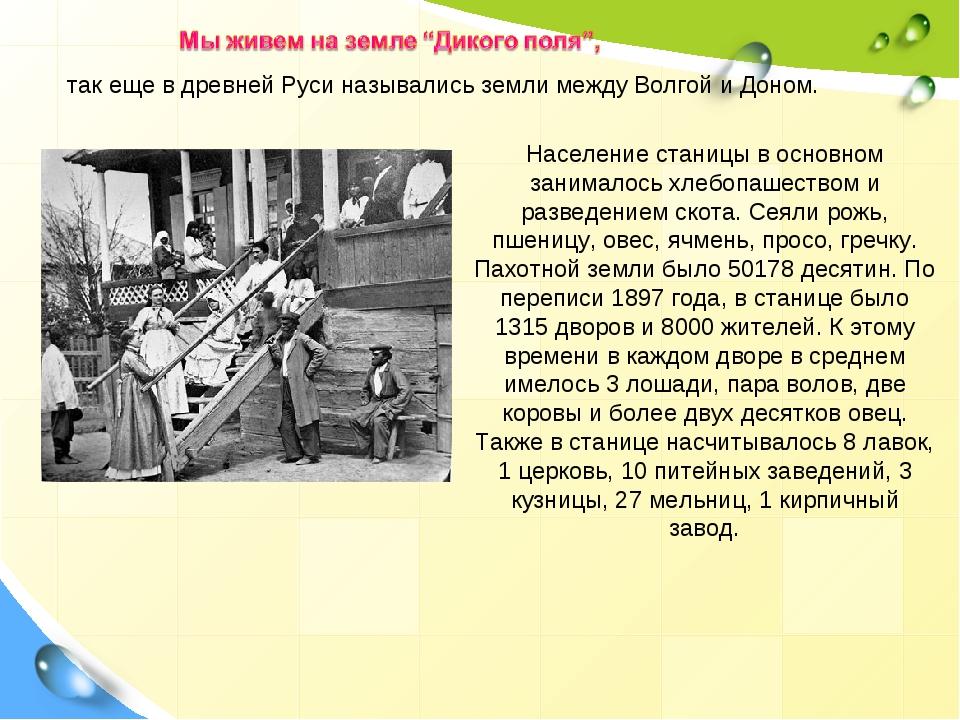 Население станицы в основном занималось хлебопашеством и разведением скота. С...