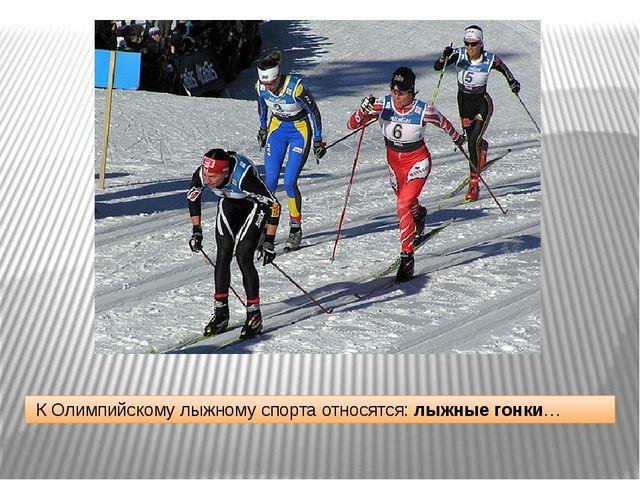 К Олимпийскому лыжному спорта относятся: лыжные гонки…