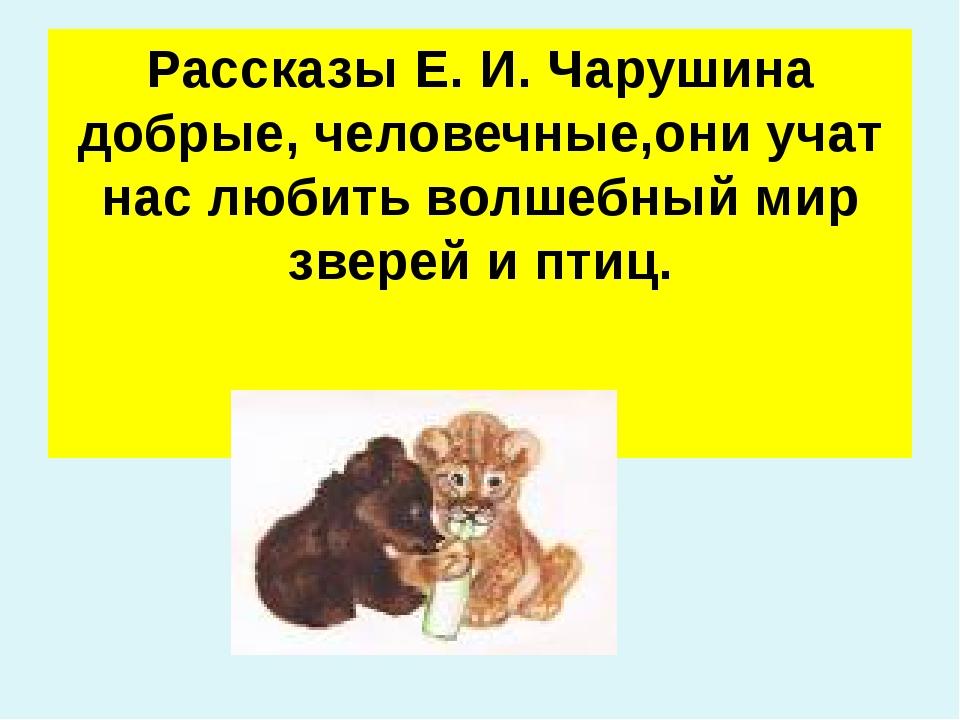 Рассказы Е. И. Чарушина добрые, человечные,они учат нас любить волшебный мир...