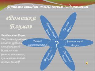 «Ромашка Блума» Простой вопрос Уточняющий вопрос Оценочный вопрос Творческий