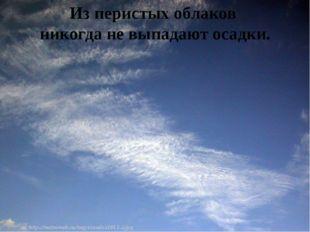 Из перистых облаков никогда не выпадают осадки.
