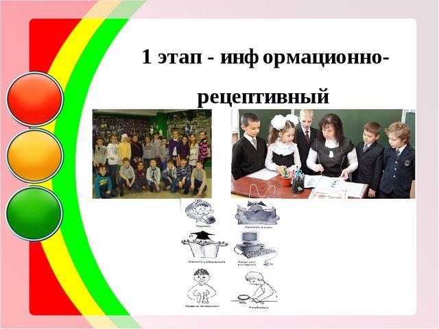 1 этап - информационно-рецептивный