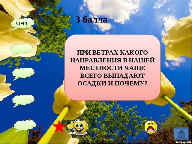 ПОСТРОЙТЕ РОЗУ ВЕТРОВ 2 балла СТАРТ С С-В В Ю-В Ю Ю-З З С-З 5 4 - 2 1 1 3 6