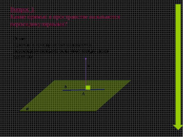 Вопрос 1. Какие прямые в пространстве называются перпендикулярными? а A b α О...