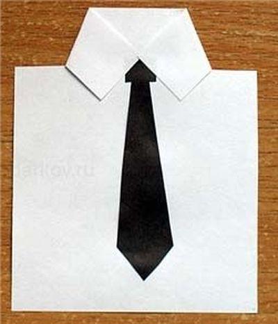 Галстук своими руками из бумаги