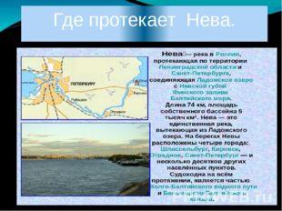 Где протекает Нева.