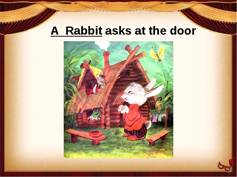 A Rabbit asks at the door