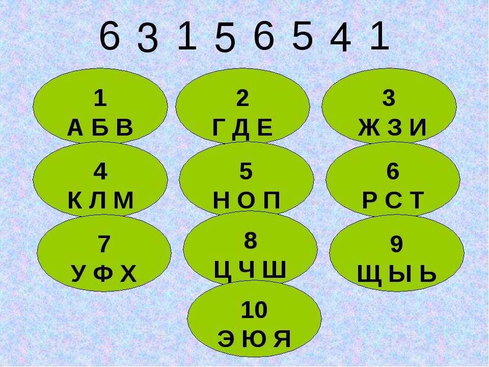 1 А Б В 2 Г Д Е 3 Ж З И 4 К Л М 5 Н О П 6 Р С Т 7 У Ф Х 8 Ц Ч Ш 9 Щ Ы Ь 10 Э...