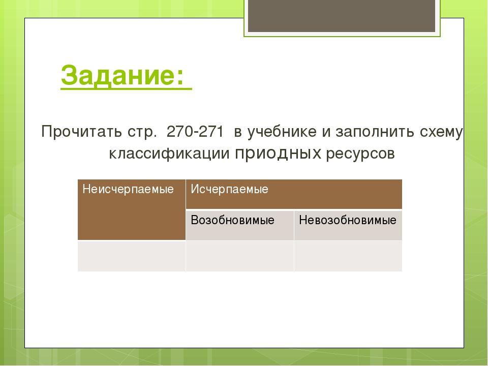 Задание: Прочитать стр. 270-271 в учебнике и заполнить схему классификации пр...