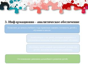 3. Информационно - аналитическое обеспечение учебного процесса и управление к