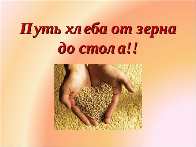 Путь хлеба от зерна до стола!! Фролова Ольга Ивановна д/с № 1687