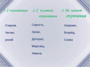 Озером, Читаю, рекой Серость, Запах, Догорал, Морозец, Ливень Направо, Вперёд
