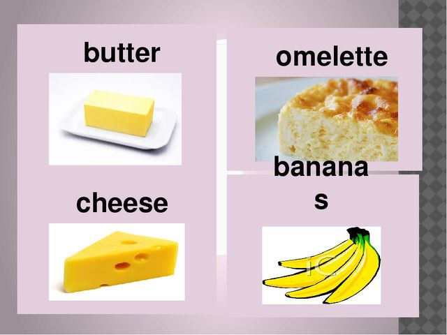 cheese butter omelette bananas