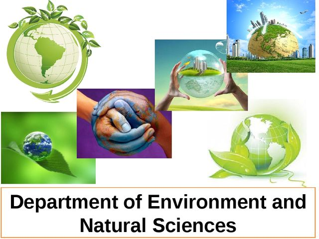 Department of Environment and Natural Sciences
