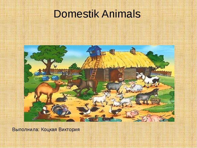 Domestik Animals Выполнила: Коцкая Виктория