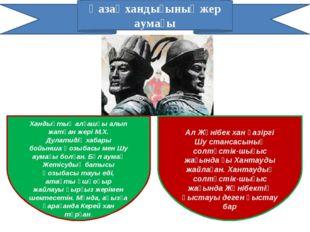 Қазақ хандығының жер аумағы Хандықтың алғашқы алып жатқан жері М.Х. Дулатидің