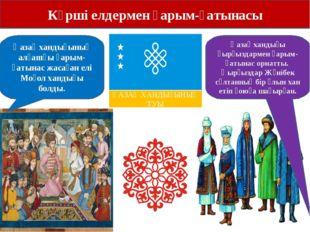 Көрші елдермен қарым-қатынасы Қазақ хандығының алғашқы қарым-қатынас жасаған