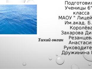 """Подготовили: Ученицы 6""""В"""" класса МАОУ """" Лицей №28 Им.акад. Б. А. Королёва Зах"""