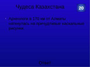 Чудеса Казахстана Наскальные изображения урочища Тамгалы. 20 Категория Ваш от