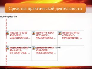 Средства практической деятельности http://linda6035.ucoz.ru/