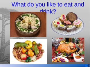 What do you like to eat and drink?