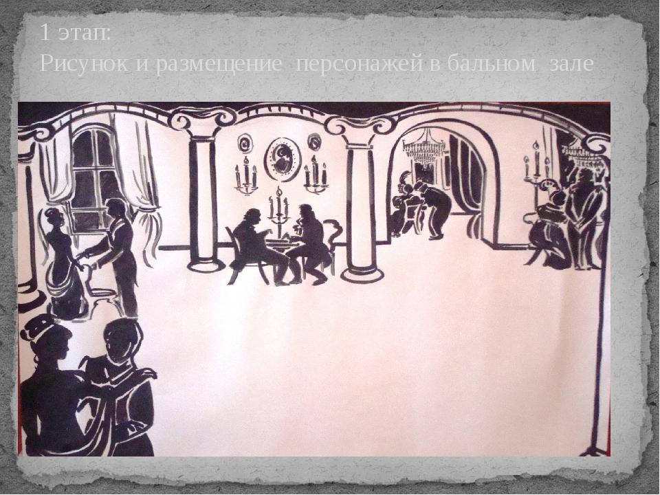 1 этап: Рисунок и размещение персонажей в бальном зале