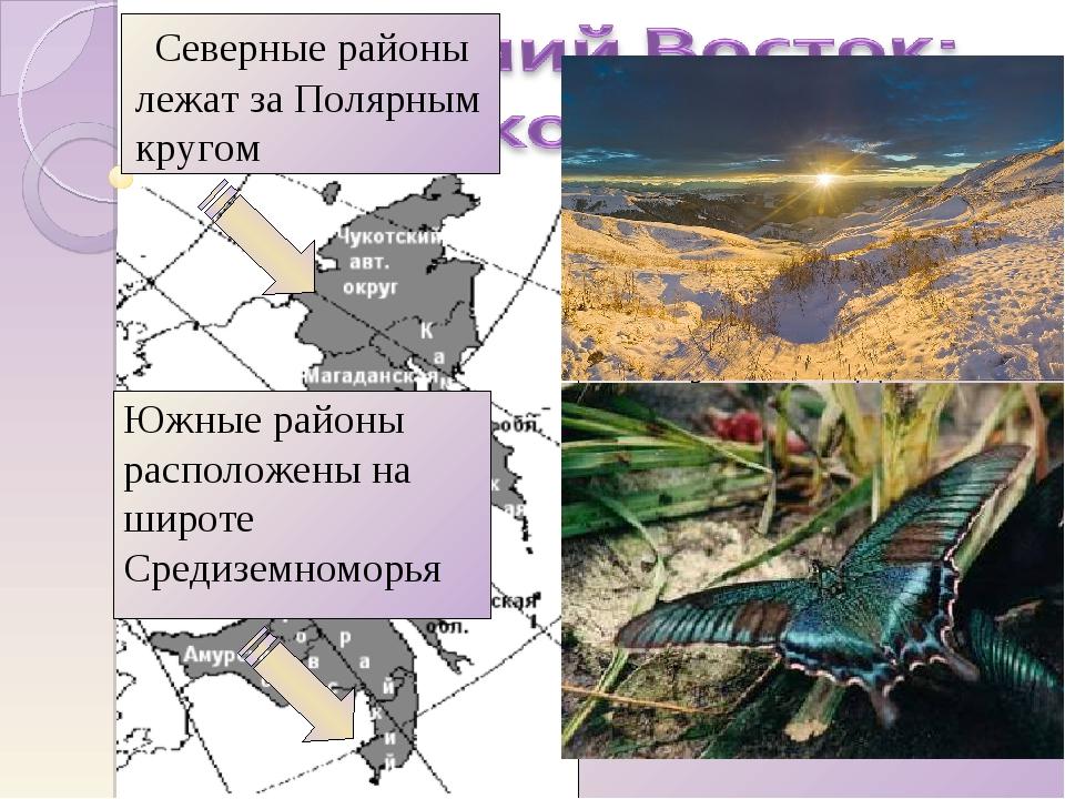 Почти на 4500 км, от Чукотки до Уссурийского края, протянулся район вдоль по...