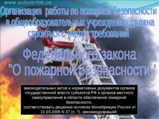 законодательных актов и нормативных документов органов государственной власти