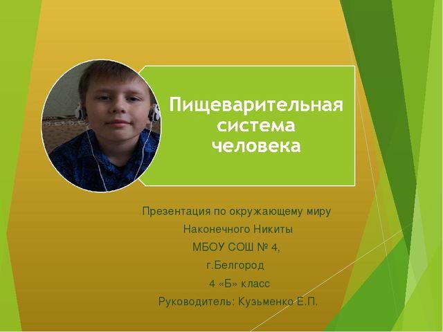 Презентация по окружающему миру Наконечного Никиты МБОУ СОШ № 4, г.Белгород 4...