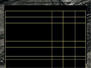 Создание опорного обоснования Требования к точности сетей триангуляции Показа