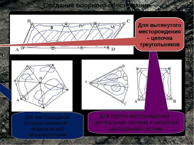 Создание опорного обоснования Для группы месторождений - центральная система...