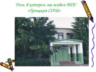 Дом, в котором мы живем МОУ «Троицкая СОШ»