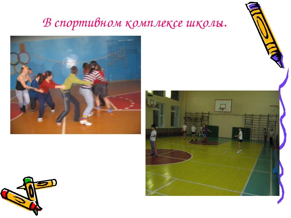 В спортивном комплексе школы.