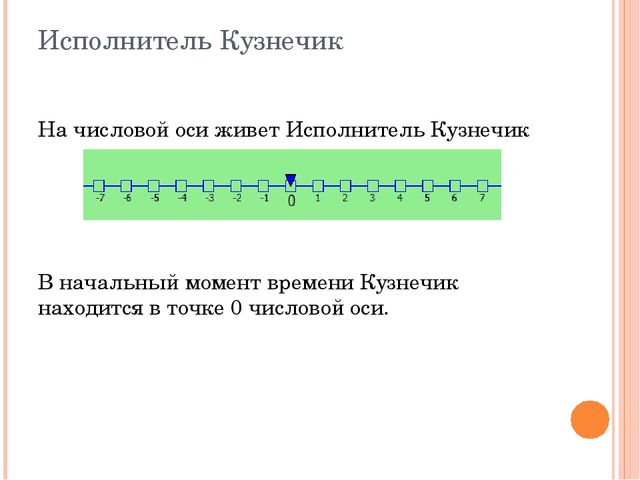 Исполнитель Кузнечик На числовой оси живет Исполнитель Кузнечик В начальный м...